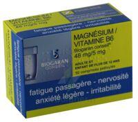 MAGNESIUM/VITAMINE B6 BIOGARAN CONSEIL 48 mg/5 mg, comprimé pelliculé à PODENSAC