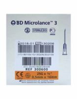 BD MICROLANCE 3, G25 5/8, 0,5 mm x 16 mm, orange  à PODENSAC