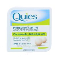 QUIES PROTECTION AUDITIVE CIRE NATURELLE 8 PAIRES à PODENSAC