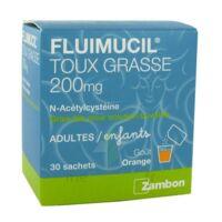 FLUIMUCIL EXPECTORANT ACETYLCYSTEINE 200 mg SANS SUCRE, granulés pour solution buvable en sachet édulcorés à l'aspartam et au sorbitol à PODENSAC