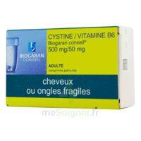 CYSTINE/VITAMINE B6 BIOGARAN CONSEIL 500 mg/50 mg Cpr pell Plq/120 à PODENSAC