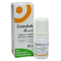 CROMABAK 20 mg/ml, collyre en solution à PODENSAC