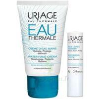 URIAGE EAU THERMALE Crème d'eau mains T/30ml+Stick lèvres à PODENSAC